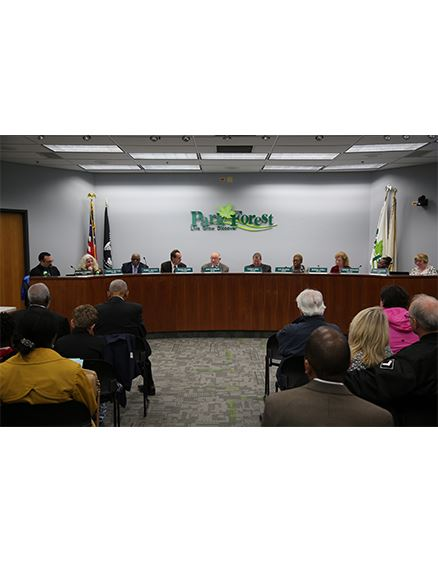 Park Forest board meetings take place on the first, third, and fourth Mondays of each month.
