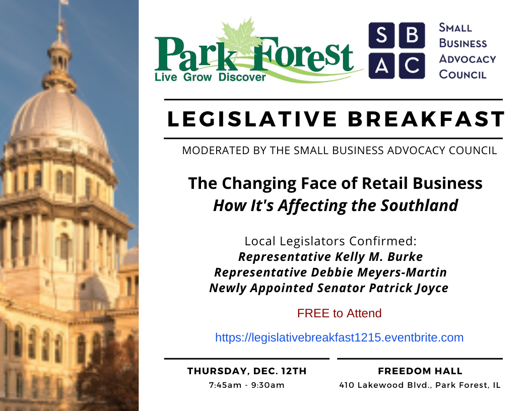 Park Forest Legislative Breakfast