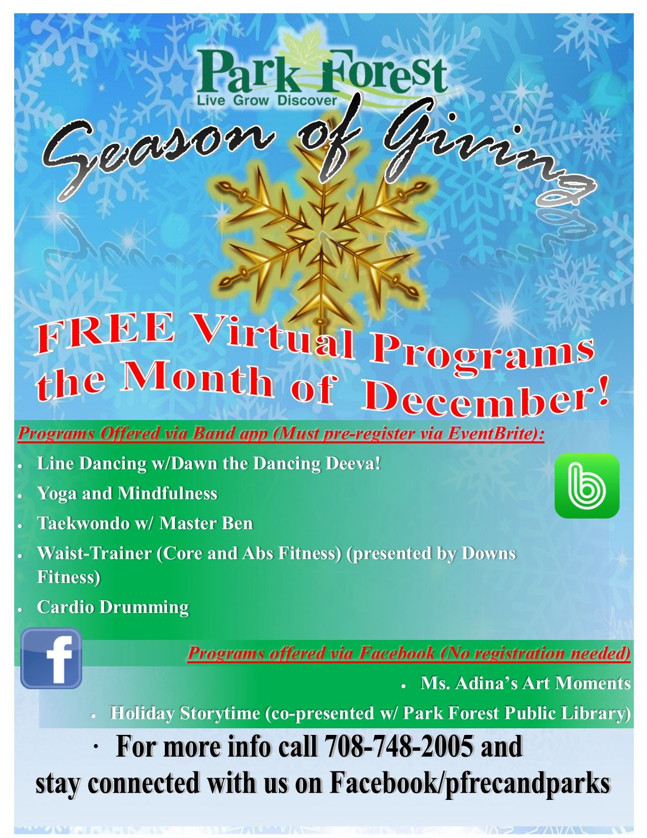 Dec Free Program Flyer